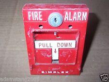 SIMPLEX 4257 FIRE ALARM PULL STATION - NO KEY NO BREAK GLASS