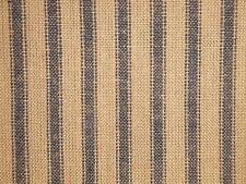 Homespun Ticking Fabric | Navy Blue Stripe Fabric | Primitive Stripe Fabric