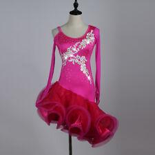 Latin Dance Dress Tango Salsa Costume Ballroom Competition Blue Dress L115