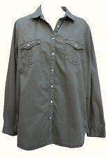 Camisa de Algodón Verde Oliva Ex High Street además de los tamaños 22 24 26