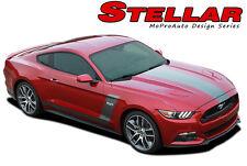 2015-2017 Ford Mustang STELLAR Boss 302 Hockey Vinyl Graphic Hood Stripe Decal