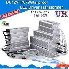 DC12V Waterproof IP67 LED Driver Power Supply Transformer 15W-300W UK Lighting