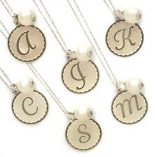 John Wind Necklace Silver Sorority Gal Initial Cotton Ball Maximal Art Jewelry