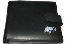 Ferguson T20 Grey Tractor Wallet Leather Black/Brown Enamel Farming Gift Boxed