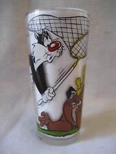 vintage SYLVESTER & TWEETY bird Pepsi glass 1970's Warner Brothers collectors !!