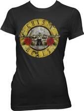 Guns N Roses Distressed Bullet Girls Art Junior Jr Band Rock Music T Shirt S-Xl