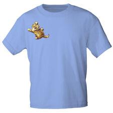 Marken T-Shirt S M L Xl Xxl Katzen Motiv Katze freigreifend KA190 hellblau