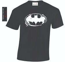 Batman Inspired Distressed T-Shirt DC Comic Book Hero Funny Tshirt