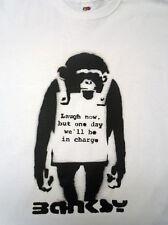 """Cheeky Monkey"" Banksy Camiseta: Grafitti Arte Para Hombre/Damas Idea Regalo de Cumpleaños"