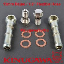 """Turbo Water Pipe Kit M12x1.5mm VOLVO SAAB TD04H 15T 19T Fit 1/2"""" Plug Hose"""