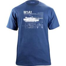 M1A1 Abrams Main Battle Tank Blueprint T-Shirt