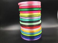 "DIY 100 Yards 3/8"" 10mm Bulk Polka Dot Ribbon Satin Craft Supplies U pick color"