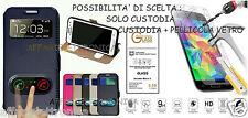 Custodia cover CASE FLIP libro FINESTRA STAND GEL GOMMA SATINATO X LG STYLUS 2