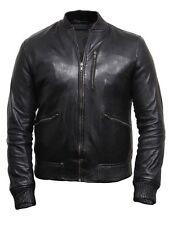 Vintage Hommes Brando Homme Vestes en cuir brandslock Vestes en cuir