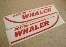 "Boston Whaler Vintage Boat Decals Die-Cut 2-Pak 24"" FREE SHIP + Free Fish Decal!"