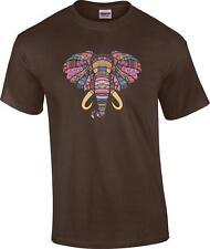 Mosaic Elephant Safari Wildlife T-Shirt