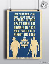 HOT FUZZ (Quote) Minimalist Poster Minimal Print Posteritty Cornetto Trilogy Art