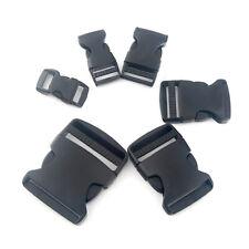 10 Pieces / Lot Plastic Black Strap Webbing Side Release Buckle 1 inch 25mm