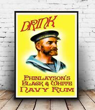 Bere Navy rum, vintage advertising poster riproduzione