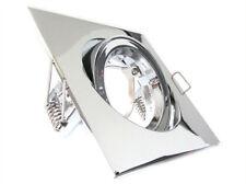 Carcasse Cadre support de porte Spot encastré réglable carré Acier Dial Avec Chr