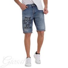 Pantalone Uomo Corto Bermuda MOD Stampa Scritta Cinque Tasche GIOSAL