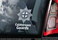 Coldstream Guards - Car Window Sticker - British Army Regiment Badge Decal - V01