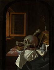"Francois van Daellen : ""Vanitas Still Life"" (c.1650) — Giclee Fine Art Print"