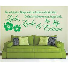 Wandtattoo Spruch  Leben Liebe Lache Träume Wandsticker Wandaufkleber Sticker 4