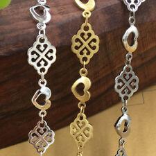 1 Meter/4Meters Open Heart and Heart-Diamond Link Handmade Chain
