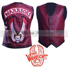 The Warriors Hollywood Movie Maroon Biker Leather Vest Jacket Halloween Costume