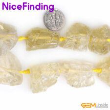 "Crude Natural Gemstone Fluorite Citrine Quartz  Beads For Jewelry Making 15"" DIY"