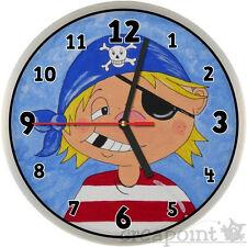 #252 Wanduhr für Kinder -> Pirat <- auch mit lautlosem Uhrwerk erhältlich!