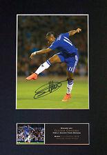 Didier Drigba No2 firmado montado autógrafo impresiones de fotos A4 550