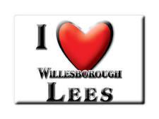 SOUVENIR UK - ENGLAND MAGNET UNITED KINGDOM I LOVE WILLESBOROUGH LEES (KENT)