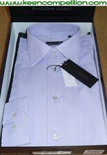 ★ BIANCHI UOMO camicia classica regular fit manica lunga 100% cotone lilla ★