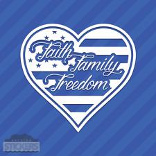 Faith Family Freedom American Flag Heart Love Vinyl Wall Decal Sticker