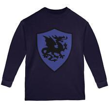 Halloween Knight Shield Costume Dragon Youth Long Sleeve T Shirt