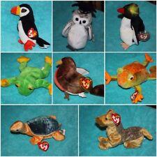 "Ty Beanie Babies 6"" Baby Babies Plush Bear Dog Cat Fish All Different-U Choose!"