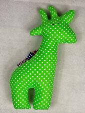 100% handgefertigtes Stofftier kuscheltier Rassel Giraffe Neu 20 cm Spielzeug