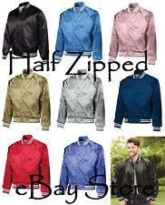 19866615833 Augusta Sportswear Satin Baseball Jacket Striped Trim 3610 XS-3XL