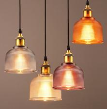 Modern Glas Hängeleuchte Retro Vintage Pendelleuchte Loft Edison Hängelampe Neu