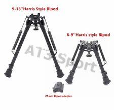 "6,9,13""Harris Bipod Tactical Rifle Stabilzer Heavy Duty Swivel Pivot W/O Adapter"