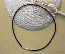 Kautschukkette nach Mass 3mm Kautschukband Kautschuk Halsband schwarz zB 42cm ES