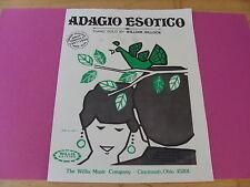 Adagio Esotico William Gillock piano sheet music 1969