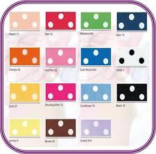 Polka Dot Berisfords Satin Ribbon Choose Colour, Length and Width Free Post