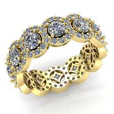 2carat Round Cut Diamond Ladies Solitaire Halo Wedding Eternity Band 10K Gold