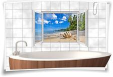 Fliesenaufkleber Fliesenbild Fliesen Sand Strand Muschel Strand Aufkleber Bad