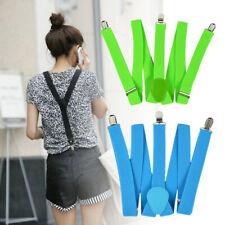 Women Men Elastic Belt Y-Shape Braces Adjustable Clip-on Suspenders Unisex