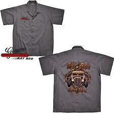 Camisa Hot Rod Oldtimer V8 ROCKABILLY SPEED TIENDA Auto worker-shirt Kustom 1077
