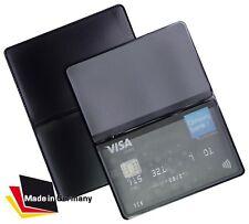 EC Kartenetui NEU Mappe Schwarz Ausweis Kreditkartenhülle Tasche Schutzhülle 1A